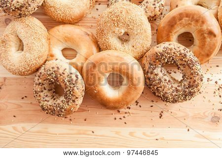 Variety Of Fresh Bagels