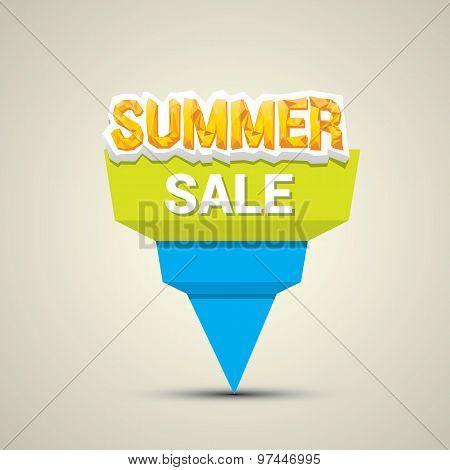 vector summer sale label or sticker