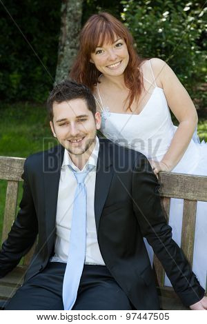 Lovely And Young Wedding Couple In Love