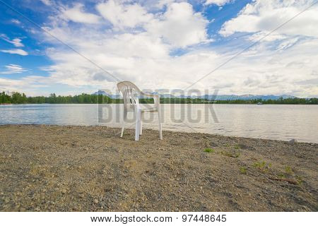 Lake Shore And Plastic Chair