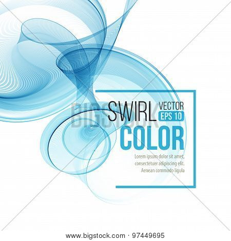 Abstract dynamic background, swirl wavy. Vector illustration