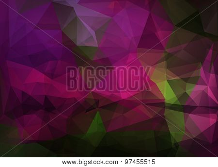 Abstract Vector Background Of Triangles Polygon Wallpaper. Web Design
