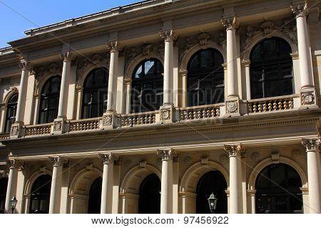 The Facade Of A Historic Building