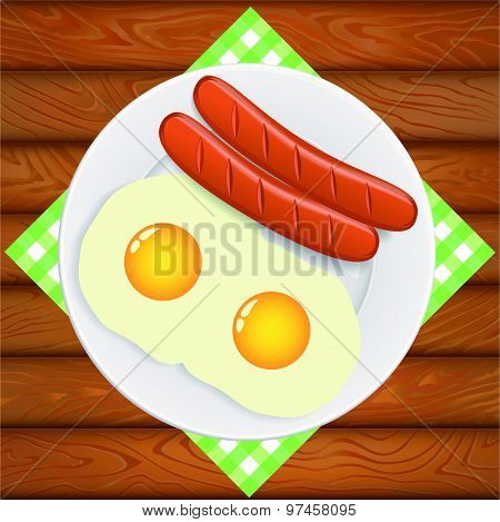 Eggs Sausages Breakfast