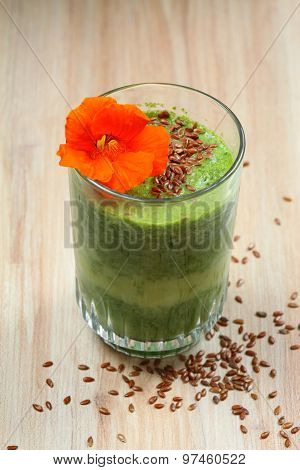 Spinach Smoothies With Flax Seed