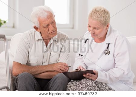 Patient During Medical Interview