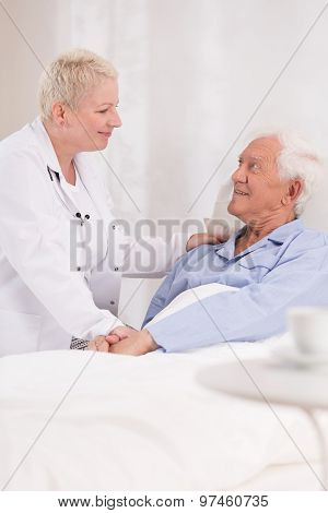 Nurse Taking Care About Patient