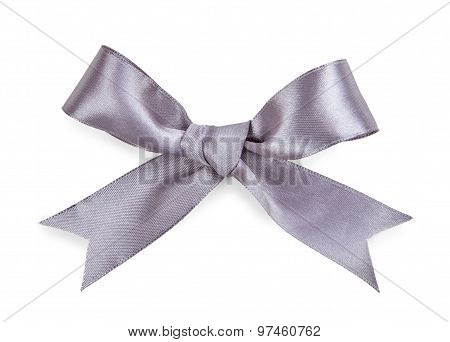 Gray Bow Isolated On White Background