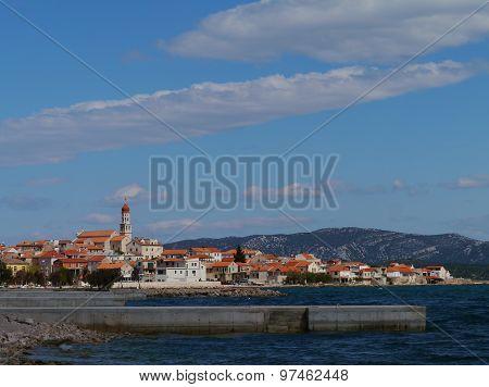 The Croatian village Betina on Murter