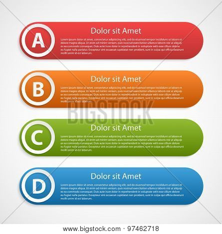 Colorful Abstract Infographic Design Template.