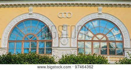 windows in antique style