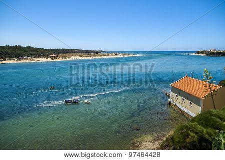 Landscape With River Mira At Vila Nova De Milfontes, Portugal