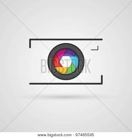 Vector Photo Camera Icon.