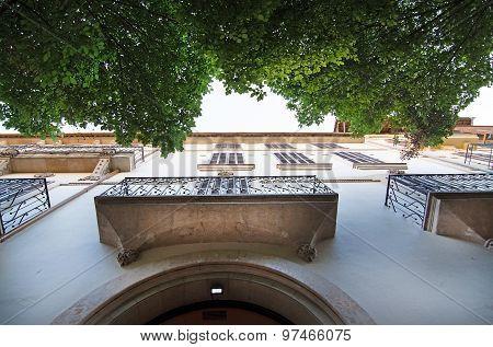 Balconies On Building Exterior