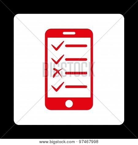 Mobile Tasks Flat Icon From Commerce Buttons Overcolor Set