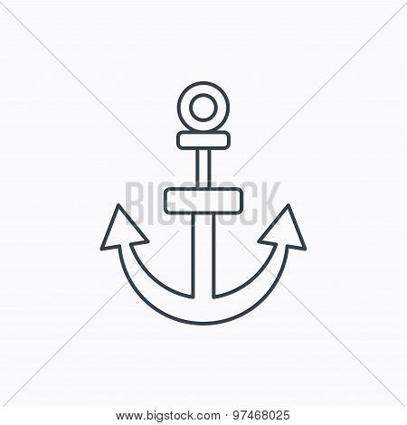 Anchor icon. Nautical drogue sign. Sea symbol.