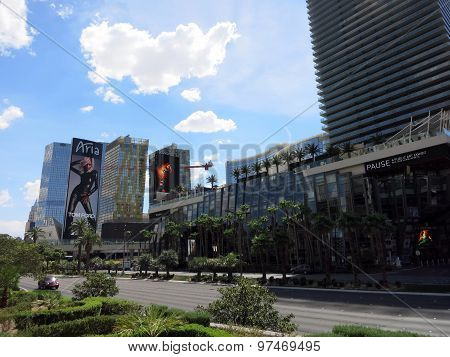 Cosmopolitan And Aria Hotels And Signs