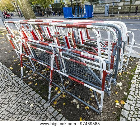 Barriers Stapled At The Street