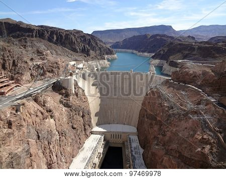 Hoover Dam And Colorado River