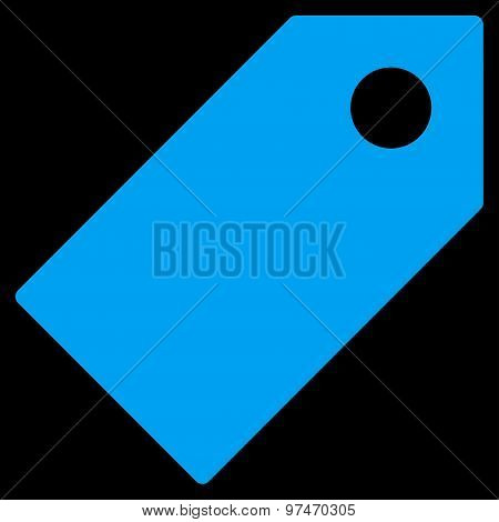 Tag flat blue color icon