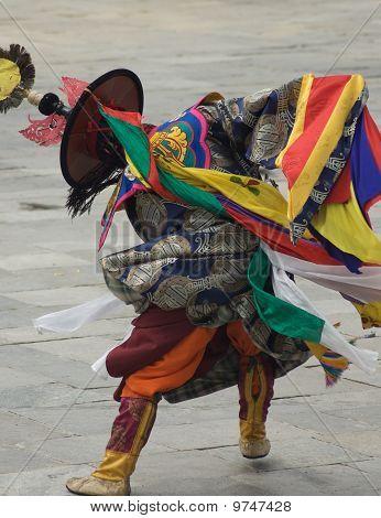 Tsechu Festival Dancer