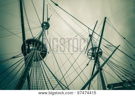 Old Ship Mast Vintage