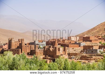 Clay village in Dades Gorges, Morocco