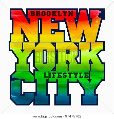New York Sport T-shirt Design - vector