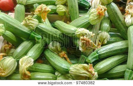 Courgette In Italian Market