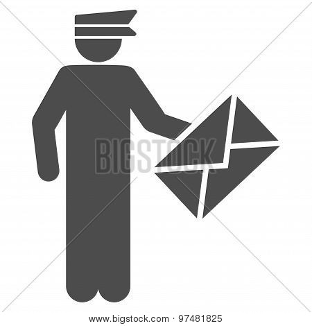 Postman Flat Icon From Business Bicolor Set