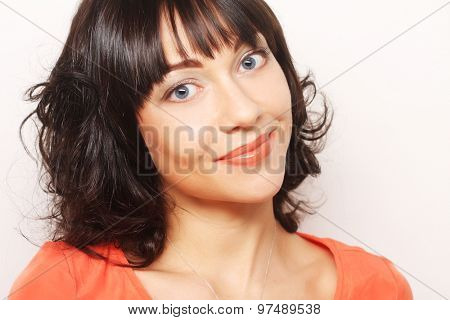 young woman with big happy smile