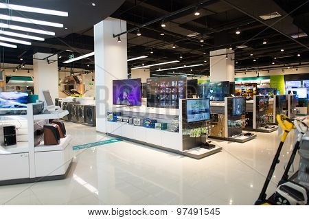 SHENZHEN, CHINA - JANUARY 19, 2015: shopping center interior in ShenZhen. ShenZhen is regarded as one of the most successful Special Economic Zones.