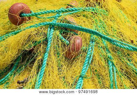 Fishing nets closeup.