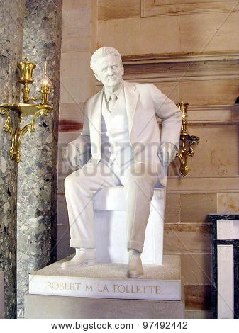 Washington Capitol La Follette Statue 2004