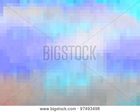Pixelated Mosaic Background Or Texture