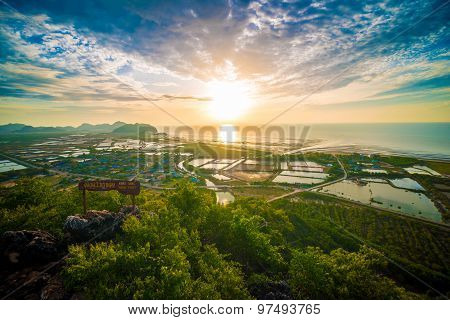 Sunrise In The Mountains Of Khao Dang View Point