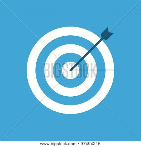 Target icon, modern minimal flat design style. Aim vector illustration, dartboard symbol