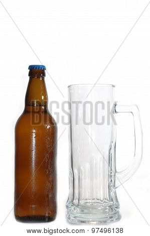 Beer Bottle And Mug