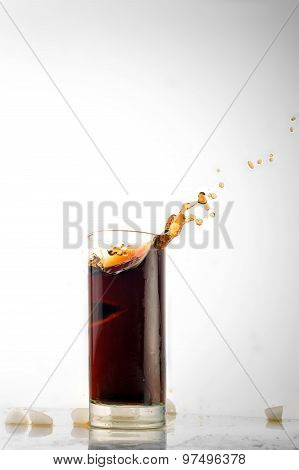 Glass With Cold Drink