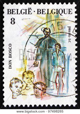 Postage Stamp Belgium 1984 St. John Bosco Canonization