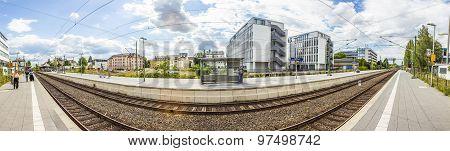 Train Station For S -bahn Roedelheim In Frankfurt