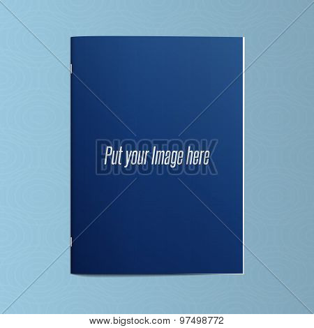 Realistic Blank Editable Template Of Closed Magazine Or Notebook