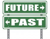 Постер, плакат: past future prediction and forecast near future fortune telling and forecast evolution and progress