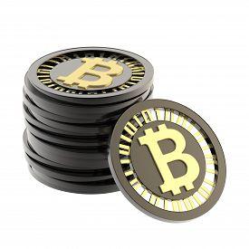 foto of bit coin  - Stack of bitcoin peer - JPG