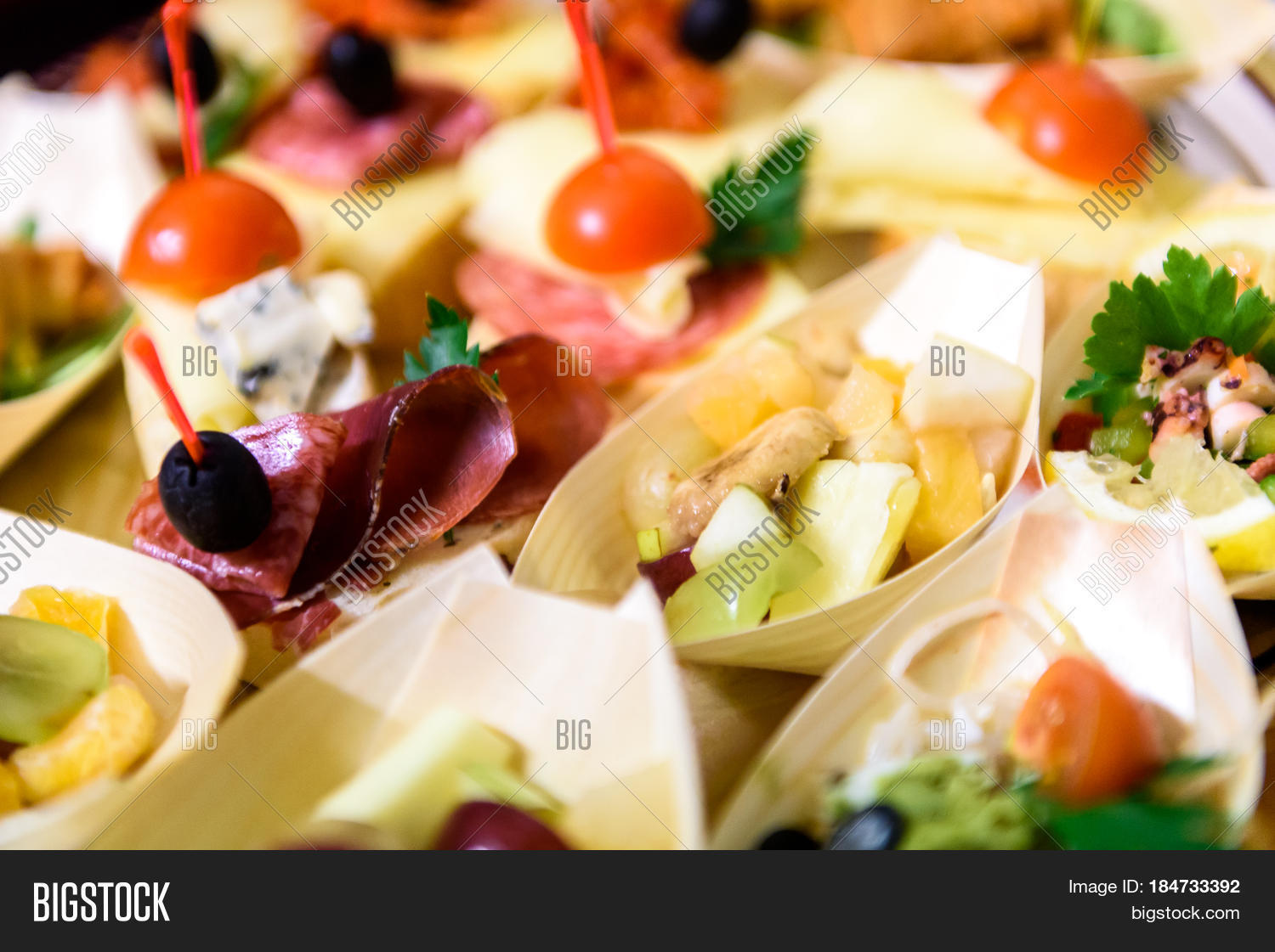 Home made canapes small sandwiches image photo bigstock for Canape wraps