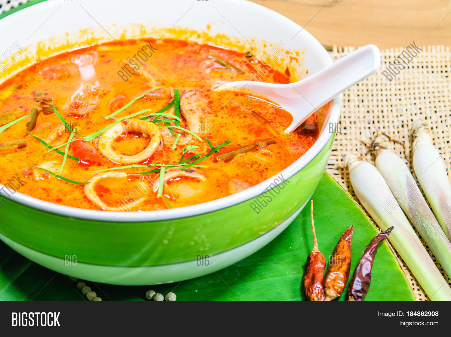 Tom yum thai spice soup thai food image photo bigstock for 8 spices thai cuisine