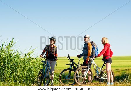 mixed group of cyclists