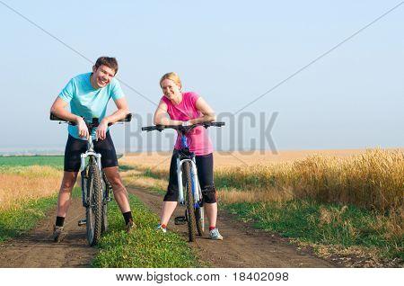 relax biking outdoors