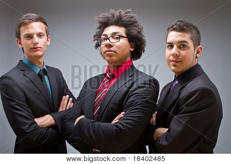 Proud Young Businessmen With Stylish Clothes