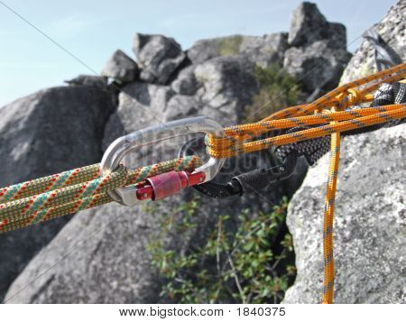 Equipment For Mountain Climbing And Rappelling